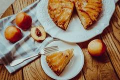 Nectarine cake Royalty Free Stock Photography