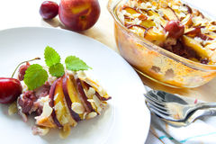 Nectarine and cherry cobbler Royalty Free Stock Image