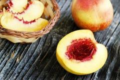 Nectarine closeup Stock Photos