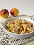 Nectarine crumble Stock Images