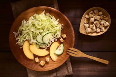 Nectarine, Cucumber and Lettuce Salad Stock Photos