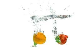 Nectarine en Aardbei Stock Fotografie