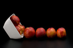 Nectarine friut on dark isolated background Royalty Free Stock Images