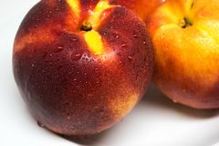 Nectarine fruit, healthy food stock photo