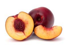 Nectarine fruit. Isolated on white background Stock Images
