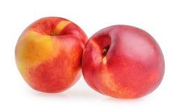 Nectarine fruit isolated Stock Photos