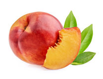 Nectarine fruit isolated Royalty Free Stock Photography