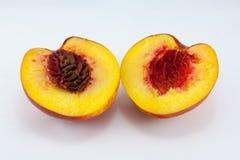 Nectarine fruit isolated Royalty Free Stock Photos
