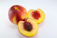 Nectarine fruit isolated Royalty Free Stock Images