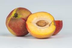 Nectarine fruit isolated on white background cutout Royalty Free Stock Photography