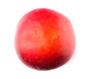 Nectarine fruit isolated on white background cutout Royalty Free Stock Photography