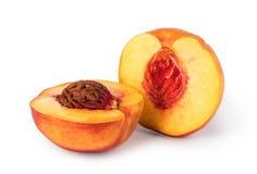 Nectarine. Fruit isolated on white background Stock Photography
