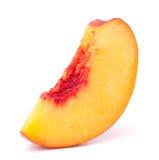 Nectarine fruit segment isolated on white background cutout Royalty Free Stock Images