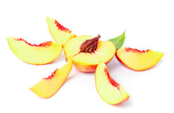 Nectarine fruit set Royalty Free Stock Images