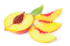 Nectarine fruit set Stock Photo