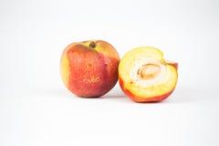 Nectarine fruit  on white background cutout Stock Photography