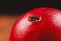 Nectarine with hole in it Stock Photo