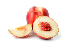 Nectarine isolated Stock Photography