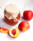 Nectarine jam Royalty Free Stock Photography