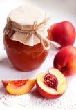 Nectarine jam Stock Images
