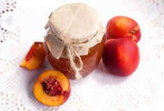 Nectarine jam Royalty Free Stock Photos