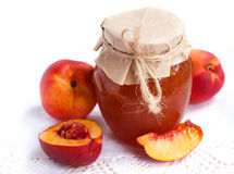 Nectarine jam Stock Photos