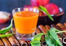 Nectarine juice Stock Photography