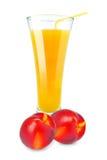 Nectarine juice Royalty Free Stock Photo