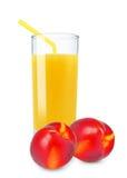 Nectarine juice Stock Image