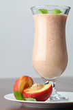 Nectarine milk shake Royalty Free Stock Image