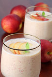 Nectarine milk shake Royalty Free Stock Photo