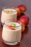 Nectarine milkshake Royalty Free Stock Photos