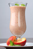 Nectarine milkshake Royalty Free Stock Photo