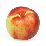 Nectarine op wit royalty-vrije stock afbeeldingen
