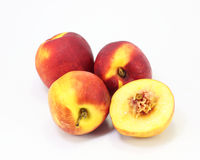 Nectarine peach fruit Stock Photos