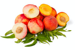 Nectarine and peach fruits Stock Photo