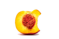 Nectarine peach isolated on a white background Royalty Free Stock Image