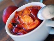 Nectarine, peach jam. Stock Image