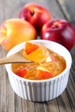 Nectarine, peach jam Stock Photography