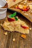 Nectarine pie Royalty Free Stock Photography