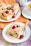 Nectarine and raspberry buckle Royalty Free Stock Image