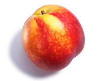 Nectarine or shaved peach, paths, top view Royalty Free Stock Photo