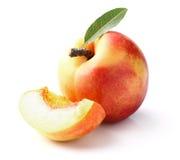 Nectarine with slice Royalty Free Stock Photos