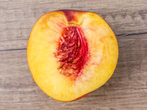 Nectarine On Table Royalty Free Stock Images