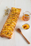Nectarine tart stock image