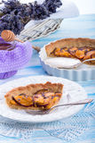 Nectarine tarte with lavender and honey Stock Image