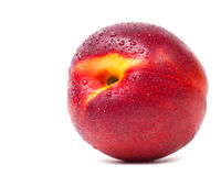 Nectarine with water drops Royalty Free Stock Photography