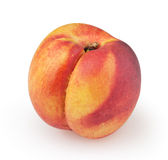 Nectarine on white. Background with clipping path stock photography