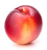 Nectarinefruit dat op wit knipsel wordt geïsoleerd als achtergrond Stock Foto's