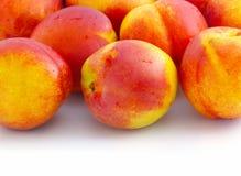 Nectarines. Isolated on white background Stock Photography